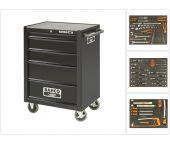 Bahco 1470K5BLACKFF2 130-delige gereedschapwagen met 5 lades - gevuld