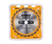 DeWalt DT1956 Construction Cirkelzaagblad - 250 x 30 x 24T - Hout (Met nagels) - DT1956-QZ