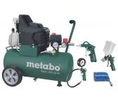 Metabo Basic 250-50 W Compressor + LPZ 4 toebehorenset - 1500W - 8 bar - 50L - 95 l/min - 690866000