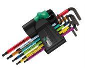 Wera 05073599001 9-delige Stiftsleutelset met kogelkop - Torx / Torx Tamper Resistant - TR8-40