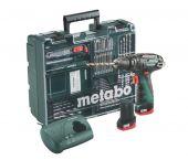 Metabo PowerMaxx SB 10.8V Li-Ion accu klopboor-/schroefmachine set (2x 2.0Ah accu) in koffer incl. accessoire set - 600385870