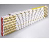 Stabila 1231 Duimstok - hout - wit/geel - 3m