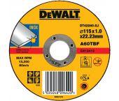 DeWalt DT42240 Rechte doorslijpschijf - 115 x 22,23 x 1mm - inox - DT42240-XJ
