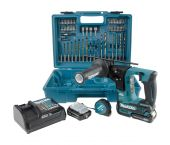 Makita HR166DSAE1 10.8V Li-Ion Accu SDS-plus boorhamer set (2x 2,0Ah accu) - 1,1J