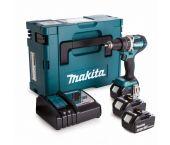 Makita DDF484RT3J 18V Li-Ion accu Boor-/schroefmachine set (3x 5,0Ah accu) in Mbox