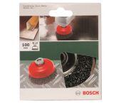 Bosch 2609256502 Komstaalborstel voor haakse en rechte slijpmachines - gegolfde draad - 100mm - M14