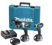 Makita DLX2005X1 18V Li-Ion accu klopboor-/schroefmachine (DHP458) & slagschroevendraaier (DTD146) combiset (3x 3.0Ah accu) in koffer