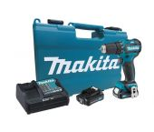 Makita DF332DSAE 10.8V Li-Ion schuifaccu boor-/schroefmachine set (2x 2.0Ah accu) in koffer - koolborstelloos