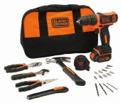 Black and Decker CDD12HTSA 10.8V Li-Ion accu boor-/schroefmachine set (1x 1.5Ah accu) in tas