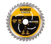 DeWalt DT99569 XR Cirkelzaagblad 216 x 30 x 36T - Hout - DT99569-QZ