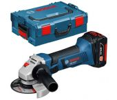 Bosch GWS 18 V-LI 18V Li-Ion Accu haakse slijper set (2x 4.0Ah accu) in L-Boxx - 115mm - 060193A30A
