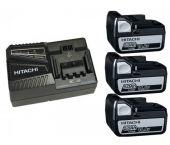 Hitachi 714906 Powerpack 14.4V Li-Ion accu starterset (3x 5.0Ah) + lader