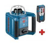 Bosch GRL 400 H rotatie laser + LR 1 ontvanger in koffer - 400m - 0601061800