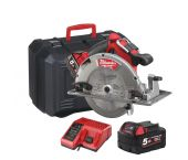 Milwaukee M18 CCS66-502C 18V Li-Ion Accu cirkelzaag set (2x 5.0Ah accu) in koffer - 190mm - koolborstelloos - 4933448163