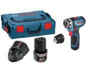 Bosch GSR 12V-15 FC 12V Li-Ion accu boor-/schroefmachine set (2x 2.0Ah accu) in L-Boxx - 06019F6001