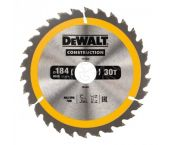 DeWalt DT1942 Construction Cirkelzaagblad - 184 x 30 x 30T - Hout (Met nagels)  - DT1942-QZ