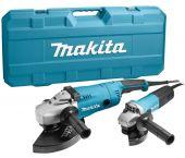 Makita MEU049 / DK1189Z Haakse slijper set (GA9020R & 9558NB) in koffer - 2200W / 840W - 230mm / 125mm