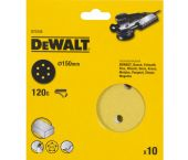 DeWalt DT3125 Schuurschijf - K120 - 150mm (10st) - DT3125-QZ