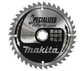 Makita B-09472 Specialized Cirkelzaagblad - 165 x 20 x 40T - Hout ( Met nagels) / Epoxy / Aluminium / Kunststof