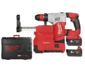 Milwaukee M18 CHPXDE-502C 18V Li-Ion Accu SDS-plus combihamer incl. stofafzuiging set (2x 5.0Ah accu) in koffer - 4J - koolborstelloos - 4933448180