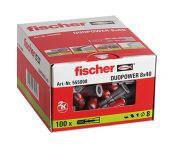 fischer 555008 DUOPOWER Universele pluggen - 8 x 40 mm (100st)