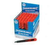 Silverline 868579 Afbreekmes in displaydoos - 9mm (48st)