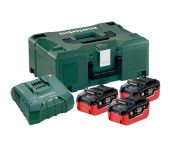 Metabo 685110000 18V Li-Ion accu's & lader in MetaLoc (3x 7,0Ah accu)