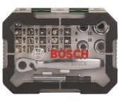 Bosch 2607017322 26-delige schroefbit- en ratelset met kleurcodering