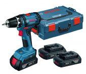 Bosch GSR 18-2-LI 18V Li-Ion accu boor-/schroefmachine set (2x 1.5Ah accu) in L-Boxx - 06019B7300