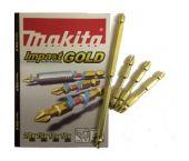 Makita 4 delige impact gold bitset