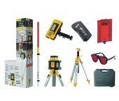 Stabila LAR 250 Rotatie laser set in koffer + bouwstatief BST-K-L + ontvanger REC 300 + Nivelleerlat NL - 17203
