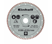 Einhell 4301175 Turbo Diamantdoorslijpschijf - 200 x 25,4 x 2,2mm - tegels