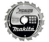 Makita B-13699 Specialized Cirkelzaagblad - 235 x 30 x 16T - Hout (Met nagels)