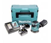 Makita DBO180RTJ 18V Li-Ion Accu excentrische schuurmachine set (2x 5.0Ah accu) in Mbox - 125mm