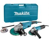 Makita DK1163GX Haakse slijper set (GA9020 & 9558HN) incl. 2 diamantzaagbladen in koffer - 2200W / 840W - 230mm / 125mm