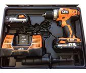 AEG BS 18C LI-202C 18V Li-Ion accu boor-/schroefmachine set (2x 2.0Ah accu) in koffer - 4935443977