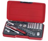 Teng Tools T1436 36 delige doppenset in koffer