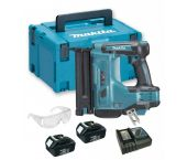 Makita DBN500RFJ 18V Li-Ion Accu brad tacker set (2x 3.0Ah accu) in Mbox - 15-50mm - 18 Gauge