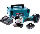 Makita DGA452RMJ 18V Li-ion Accu haakse slijper set (2x 4.0Ah accu) in Mbox - 115mm