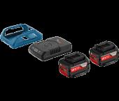 Bosch 1600A00C46 18V Li-Ion accu starterset (2x 4.0Ah) + lader - Wireless Charging
