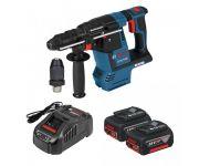 Bosch GBH 18V-26 F SDS-plus Combihamer set (2x 5,0Ah accu) in L-Boxx - 2,6J - koolborstelloos - 0611910007