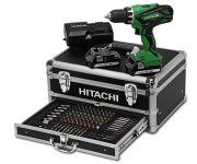 Hitachi DS18DJL(LC)  / (WK) 18V Li-Ion accu boor-/schroefmachine set (2x 1.5Ah accu) in koffer incl 100 delige accessoire set