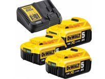 DeWalt DCB115P3 starterset 18V 3x 5.0Ah accu + oplader - DCB 115 - DCB 184 - DCB115P3-QW