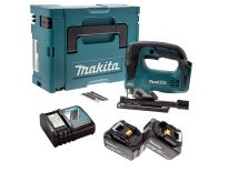 Makita DJV182RTJ 18V Li-Ion accu decoupeerzaag set  in Mbox (2x 5.0Ah accu) - D-greep - variabel - koolborstelloos