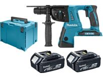 Makita DHR264RT2 36V (2x 18V) Li-Ion Accu SDS-plus combihamer set (2x 5.0Ah accu) in Mbox - 2,5J