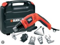 Black and Decker KX1693 Heteluchtpistool met draaibare handgreep incl. accessoires in koffer - 1800W