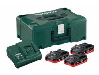 Metabo 685075000 starterset 18V LiHD 3x 3,1Ah accu + oplader in Metaloc - ME1831 - ASC30-36