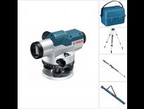 Bosch GOL 20 D Optisch waterpastoestel met vergrotingsfactor - 100mm - in koffer + BT 160 Bouwstatief - 160cm + GR 500 Meetlat 5M
