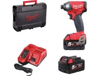 Milwaukee M18 FID-502X 18V Li-Ion accu slagschroevendraaier set (2x 5.0Ah accu) in HD BOX - koolborstelloos - 4933451066