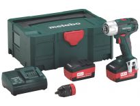 Metabo BS 18 LT Quick 18V accu boor-/schroefmachine set (2x 4.0Ah accu) in Metaloc II